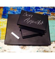 Writable box / Boite à couvercle noir