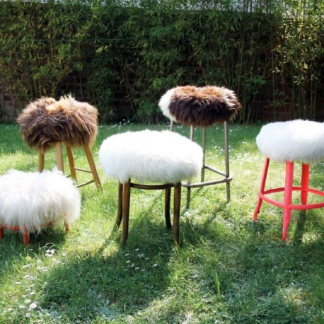Housse de tabouret Fab Design Top Moumoute !