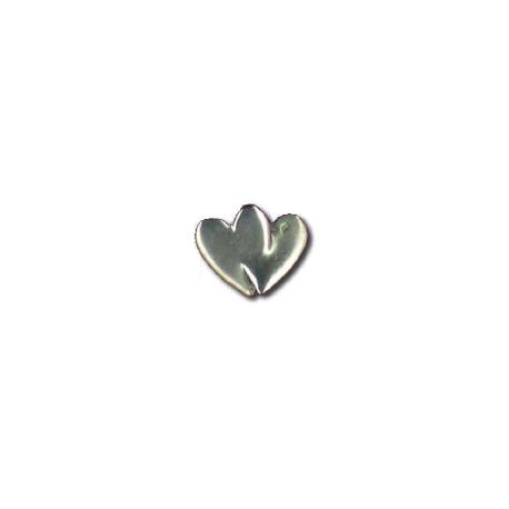 Pendentif deux petits coeurs Toulhoat