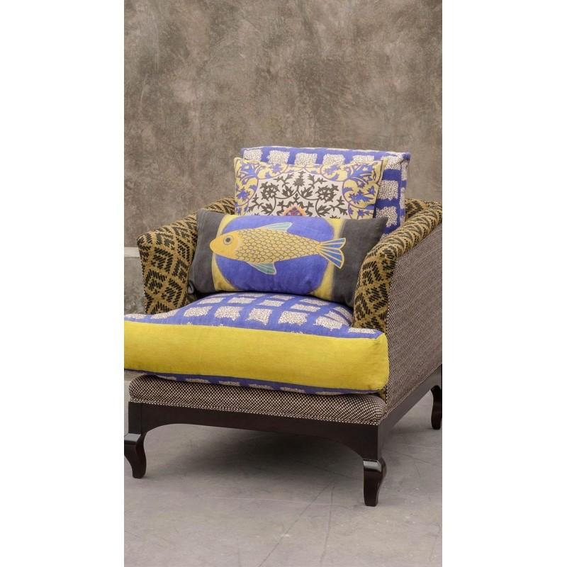 la sardine en lin coussin rectangulaire k line s rl. Black Bedroom Furniture Sets. Home Design Ideas