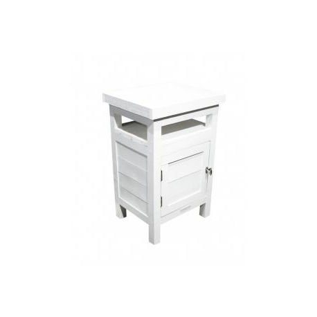 Table de chevet / 1-door White side table