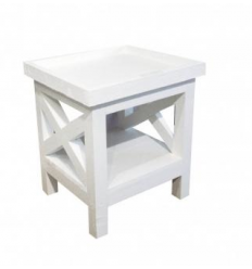 Table de chevet / White side table Philip