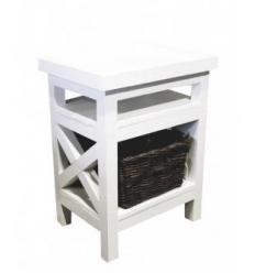 Table de chevet / White side table Jeffrey