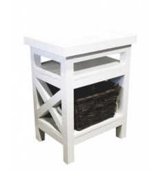 Table de chevet / White side table Jeffrey