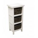 Meuble à casier en bois blanc / Vincent 106 White little furniture
