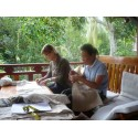 Set / 7 housses de coussin en chanvre du Laos