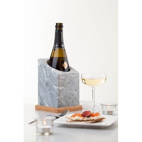 Rafraîchisseur de bouteilles en pierre ollaireVinkylare de Täljsten