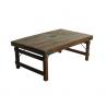 Table basse en bois recyclé, pieds rabattables