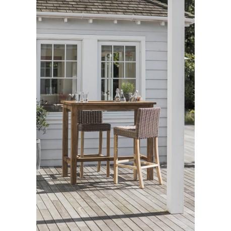 Table mange-debout / Planter Bar Table en teck recyclé
