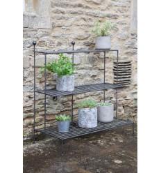 Etagère en acier pour plantes, chaussures, paniers