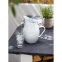 Pichet à eau de 2.8L blanc en métal émaillé