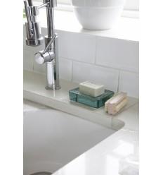 Porte-savon en verre recyclé