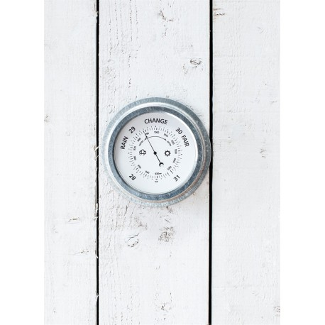 Baromètre St Ives acier galvanisé