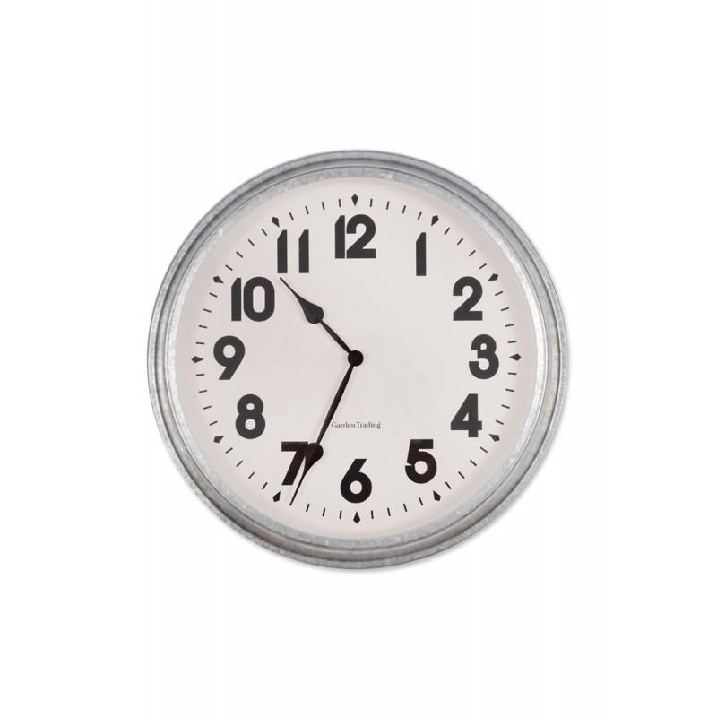 horloge murale xxl en acier galvanis