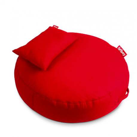 PUPILLOW Le pouf rond avec son coussin en supplément