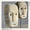 Masque en pierre simple, miniature, île Timor, Indonésie