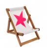 Chaise Transat Rocking Deck Chair toile de voile recyclée 727 Green sails