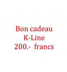 Bon cadeau de 200.- francs