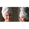 Serviette de tête pour le bain