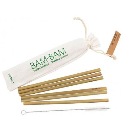 Pailles réutilisables 100% naturelles en bambou bio issues de forêts gérées durablement