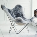 Fauteuil BUTTERLFLY GREY ICELAND SKIN Chair Sweden