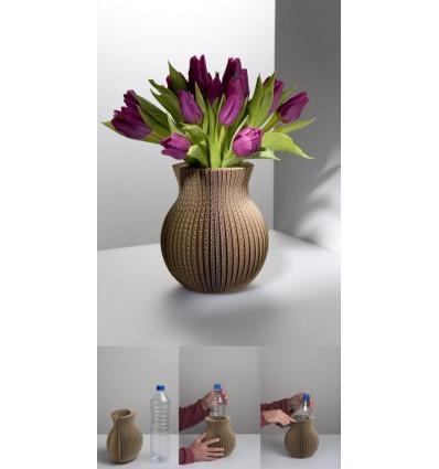 Vase cache-cache en carton éco-design