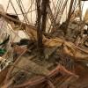 Ancienne maquette de bateau décorative