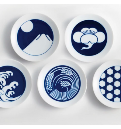 Set/5 assiettes des saisons Kihara - Seasonal Plates - Set of 5
