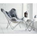 Fauteuil BUTTERLFLY Grey SKIN Chair Sweden