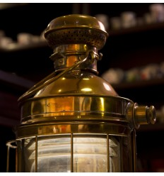Lampe falot Fresnel original - antiquité de marine